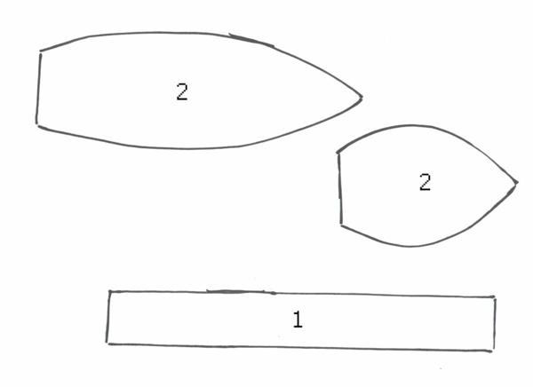 Wie kann man Tulpen basteln - Nähanleitung für DIY Tulpen aus Stoff Muster