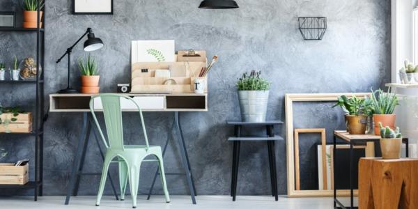 grünes und nachhaltiges Home Office einrichten Ideen