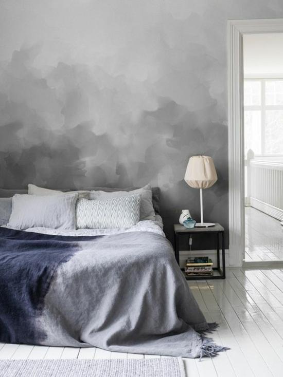 kreative streichtechniken schlafzimmer wandgestaltung