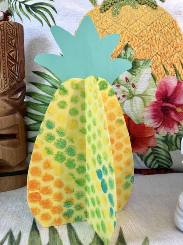 luftpolsterfolie basteln ananas papier