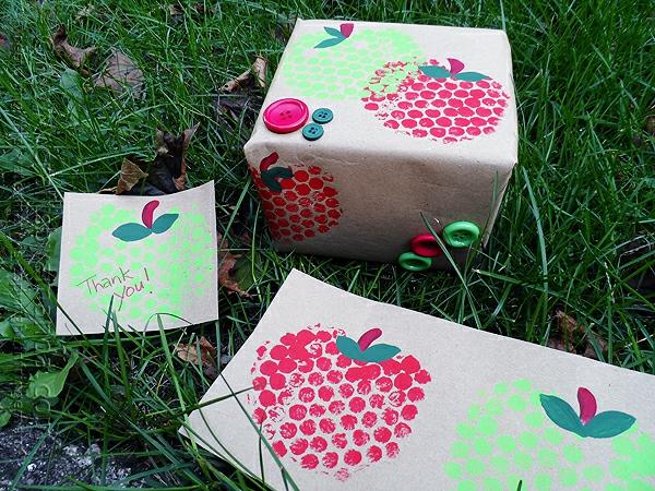 luftpolsterfolie geschenkpapier selber machen