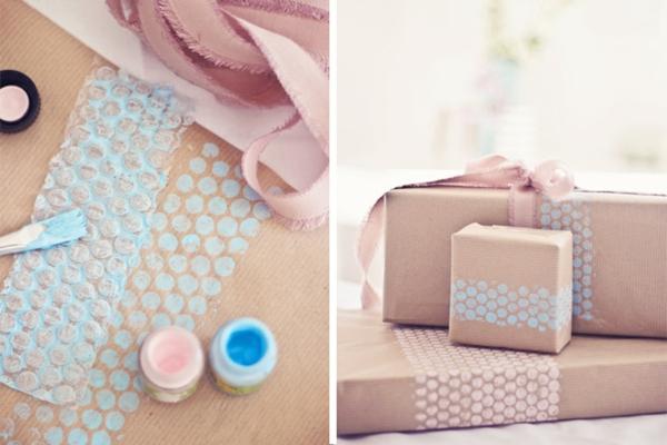 luftpolsterfolie papier bedrucken geschenkpapier