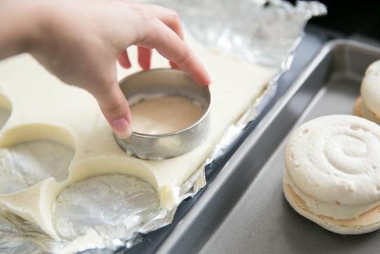 macarons osterdessert mit eis selber machen