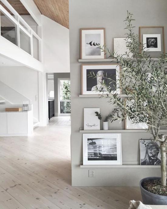 moderne Fotowand gestalten Gallery Wall auf leisten