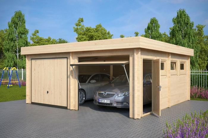 moderne gartenhäuser garage