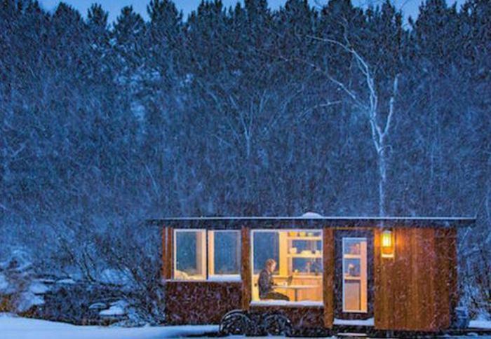 moderne gartenhäuser winter