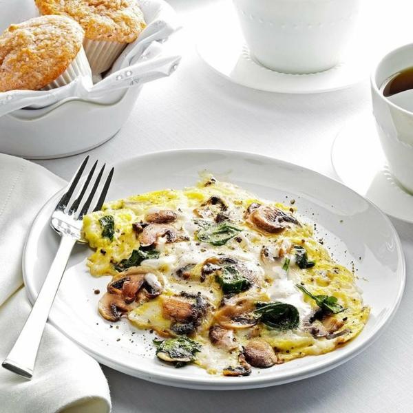 omelette schnelle frühstücksideen mit pilzen