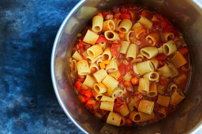 one pan pasta fagioli