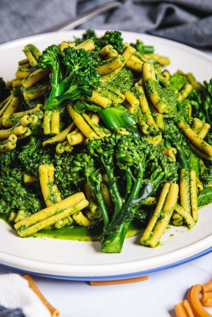 one pan pasta gruene bohne