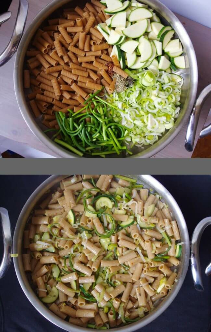 one pan pasta lauch