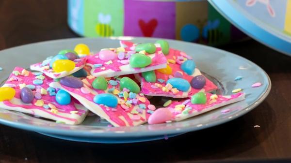 oster bruchschokolade selber machen bunte kindernachtisch
