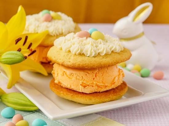 osterdessert idee cookies mit eis