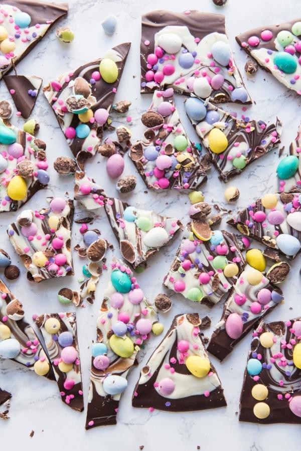 ostereier bonbons bruchschokolade selber machen