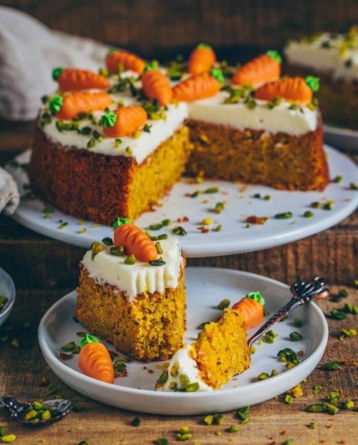 osterkuchen rezept vegan karotte