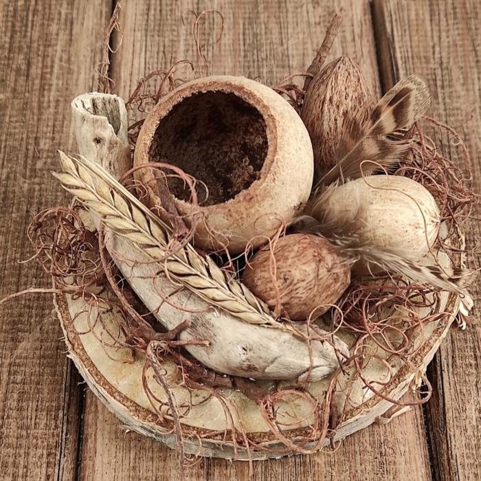 osternest backen osternest basteln naturmaterialien nachhaltig denken vogelkaefig natur