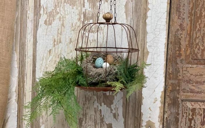 osternest backen osternest basteln naturmaterialien nachhaltig denken vogelkaefig