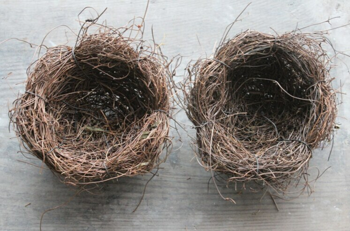 osternest backen osternest basteln naturmaterialien vogelnest bastelnn