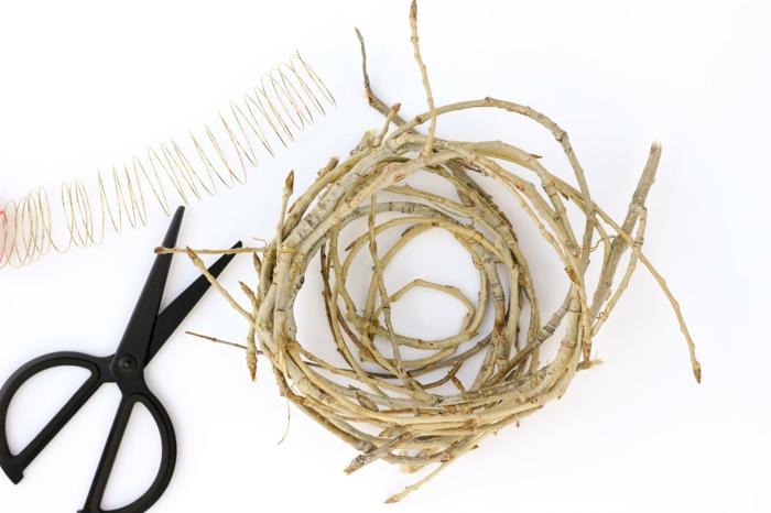 osternest backen osternest basteln naturmaterialien vogelnest ostergras schritt