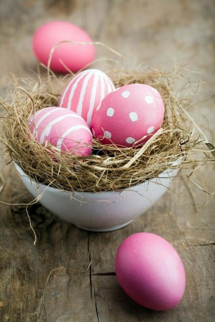 osternest backen osternest basteln naturmaterialien vogelnest rosa