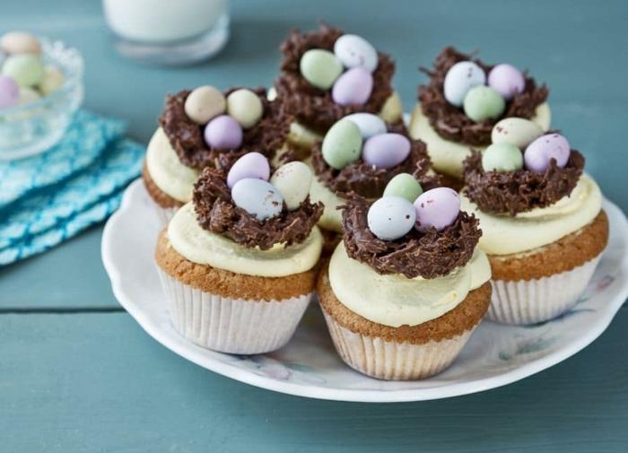 osternest backen schokoladentorte cupcakes