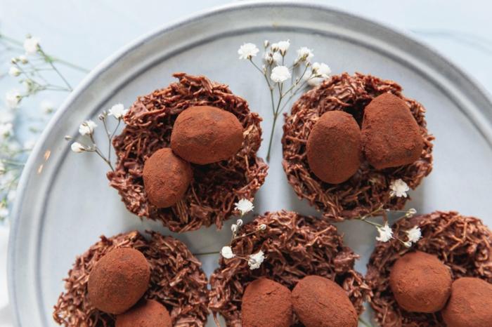 osternest backen schokoladentorte suess