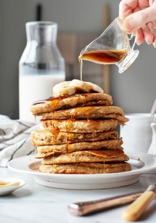 schnelle frühstücksideen haferflocken pfannkuchen