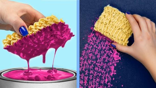 spaghetti muster wand streichtechniken