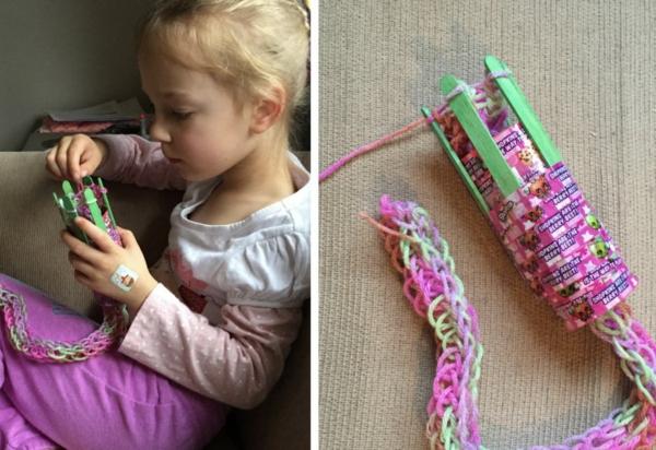 stricken mit Strickliesel Anleitung Basteln mit Kindern
