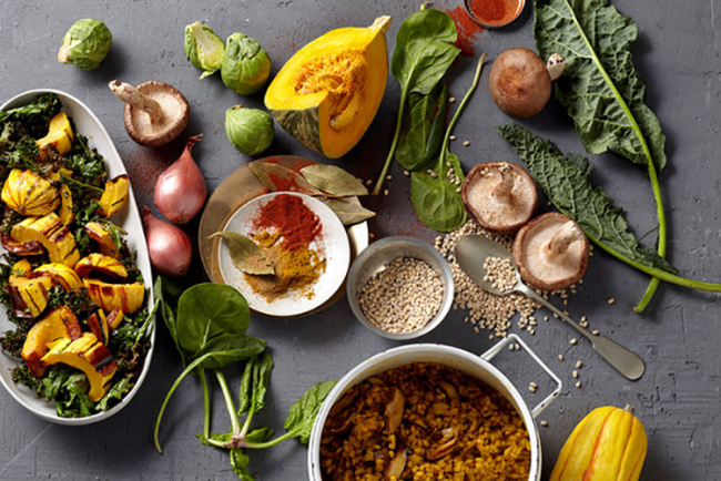 80-20-Regel Naturprodukte wenig verarbeitet grünes Gemüse Pilze Samen