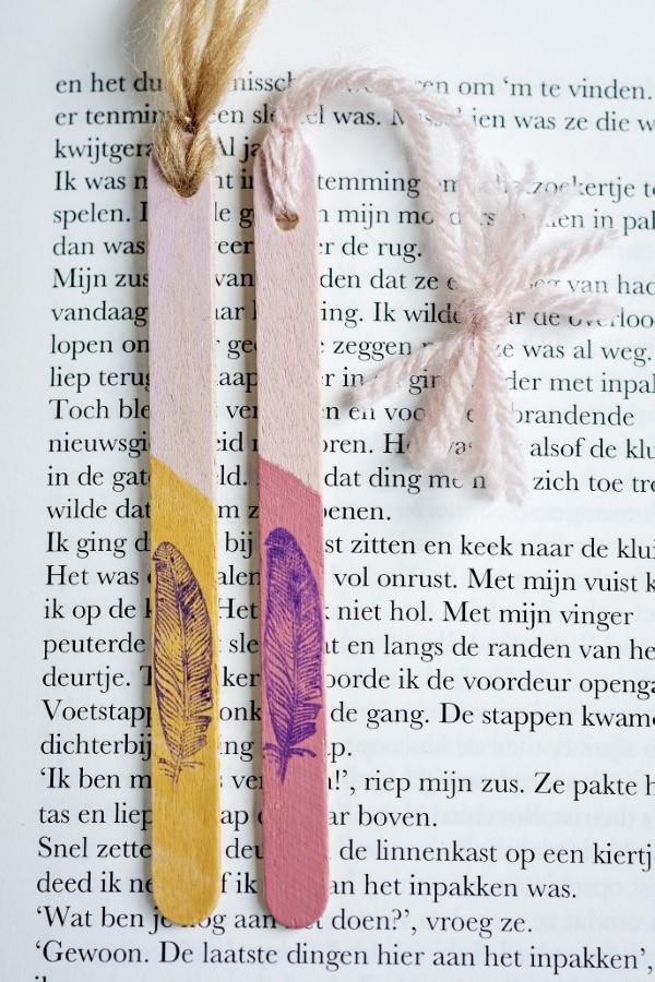 Basteln mit Eisstielen – coole Recycling-Bastelideen und Anleitung lesezeichen diy bunt schön