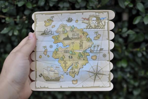 Basteln mit Eisstielen – coole Recycling-Bastelideen und Anleitung schatzkarte piraten karte diy