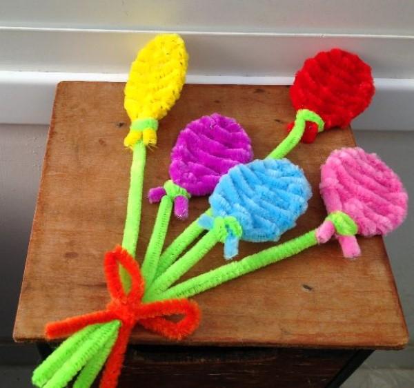 Basteln mit Pfeifenreinigern – 60 Bastelideen zum einfachen Nachmachen luftballons diy schön einfach