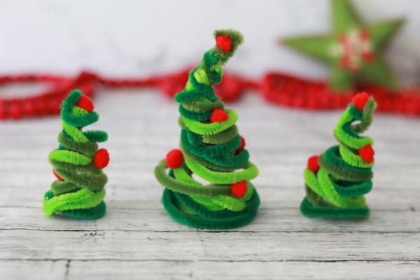 Basteln mit Pfeifenreinigern – 60 Bastelideen zum einfachen Nachmachen weihnachten bastelideen diy