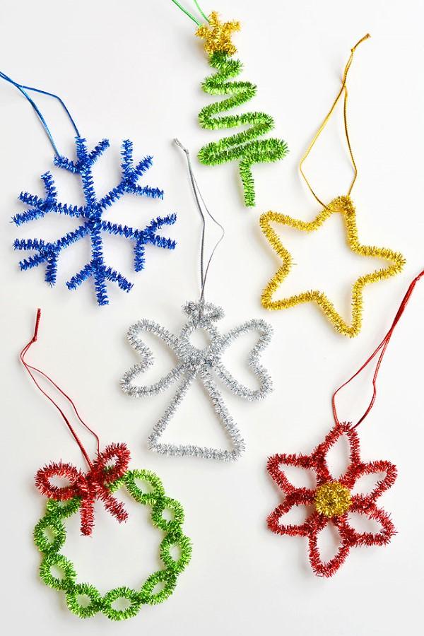 Basteln mit Pfeifenreinigern – 60 Bastelideen zum einfachen Nachmachen weihnachten ideen zum nachmachen