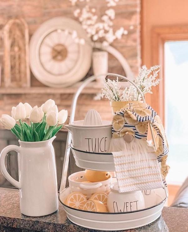 Etagere dekorieren – Ideen und Tipps für eine schöne und praktische Deko farmhaus deko ideen