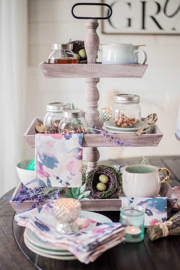 Etagere dekorieren – Ideen und Tipps für eine schöne und praktische Deko frühling ostern diy
