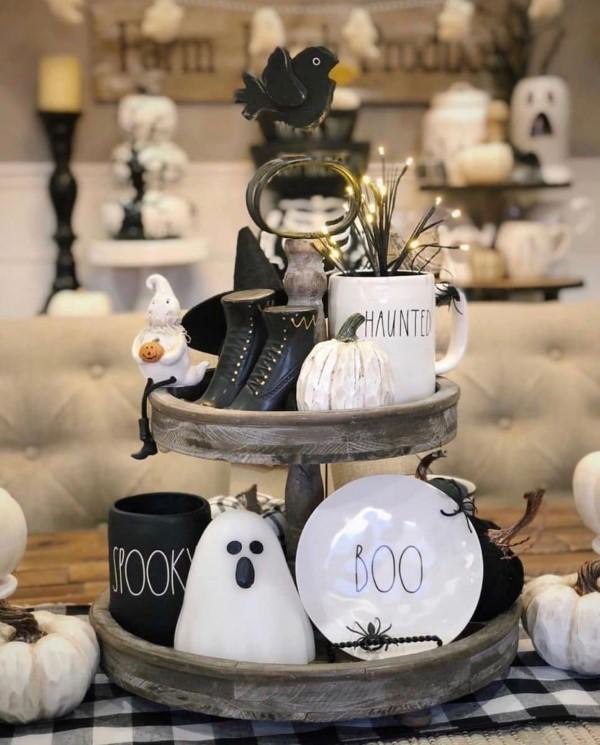 Etagere dekorieren – Ideen und Tipps für eine schöne und praktische Deko halloween ideen diy
