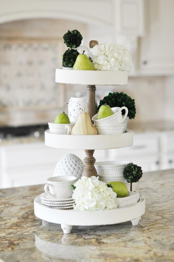 Etagere dekorieren – Ideen und Tipps für eine schöne und praktische Deko küche deko minimalistisch