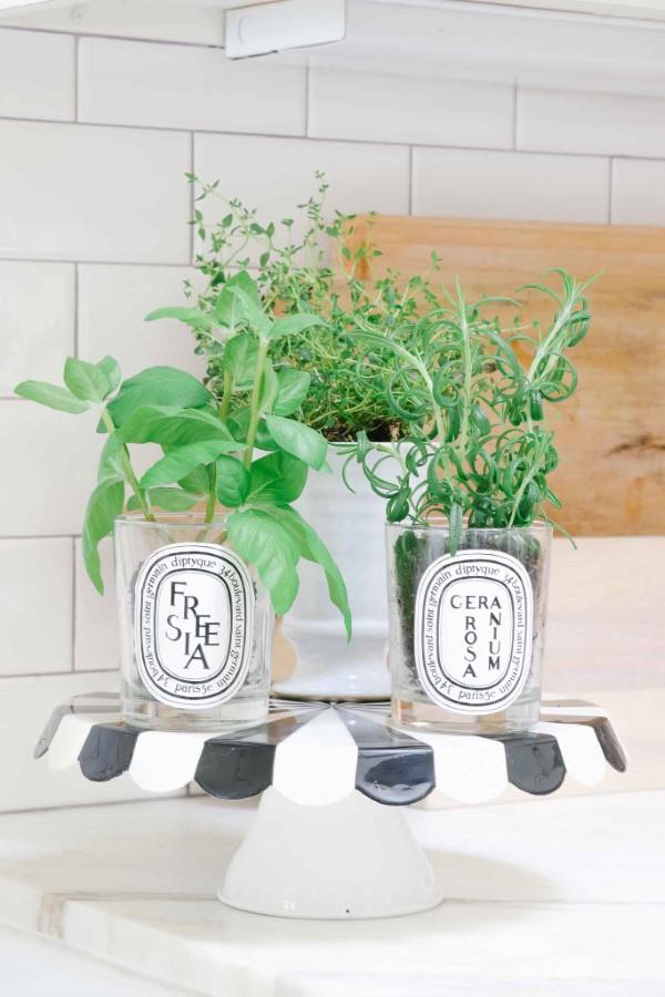 Etagere dekorieren – Ideen und Tipps für eine schöne und praktische Deko kräutergarten küche praktisch