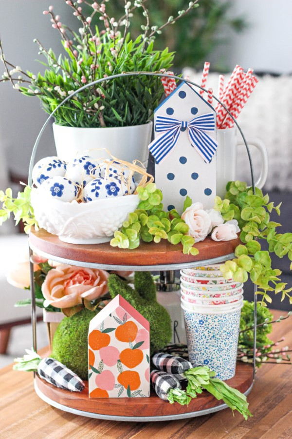 Etagere dekorieren – Ideen und Tipps für eine schöne und praktische Deko niedliche deko zuhause küche