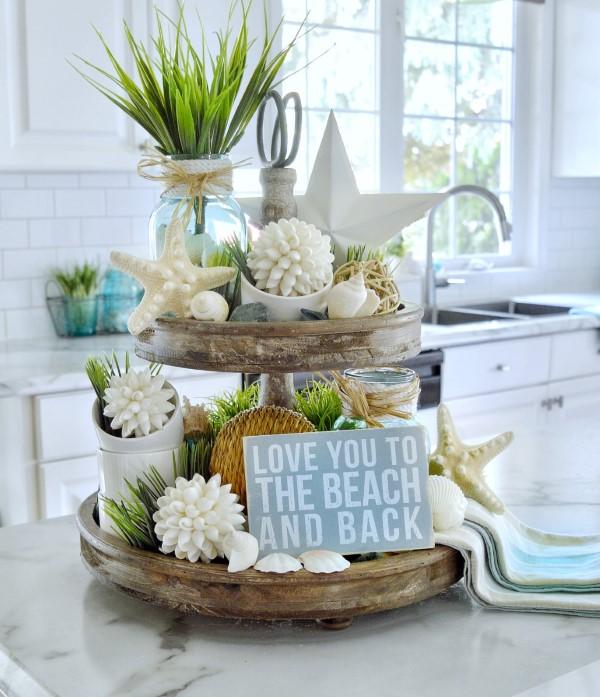 Etagere dekorieren – Ideen und Tipps für eine schöne und praktische Deko sommerliche deko diy