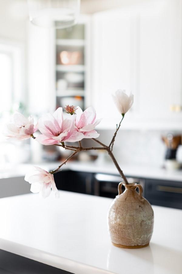 Frühlingsblumen basteln mit Kindern – Ideen und Anleitung für Anfänger und Profi-Bastler kirschblüte japan deko