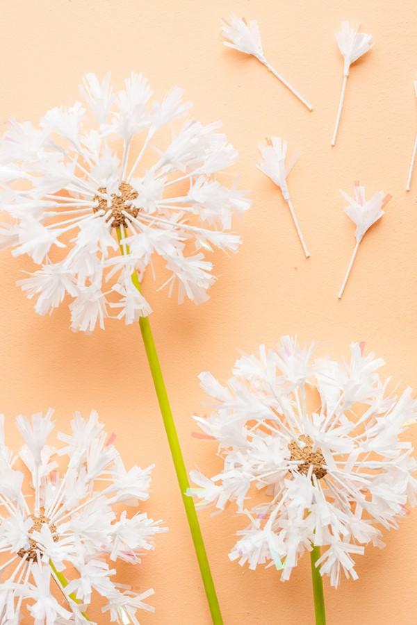 Frühlingsblumen basteln mit Kindern – Ideen und Anleitung für Anfänger und Profi-Bastler löwenzahn ideen schön