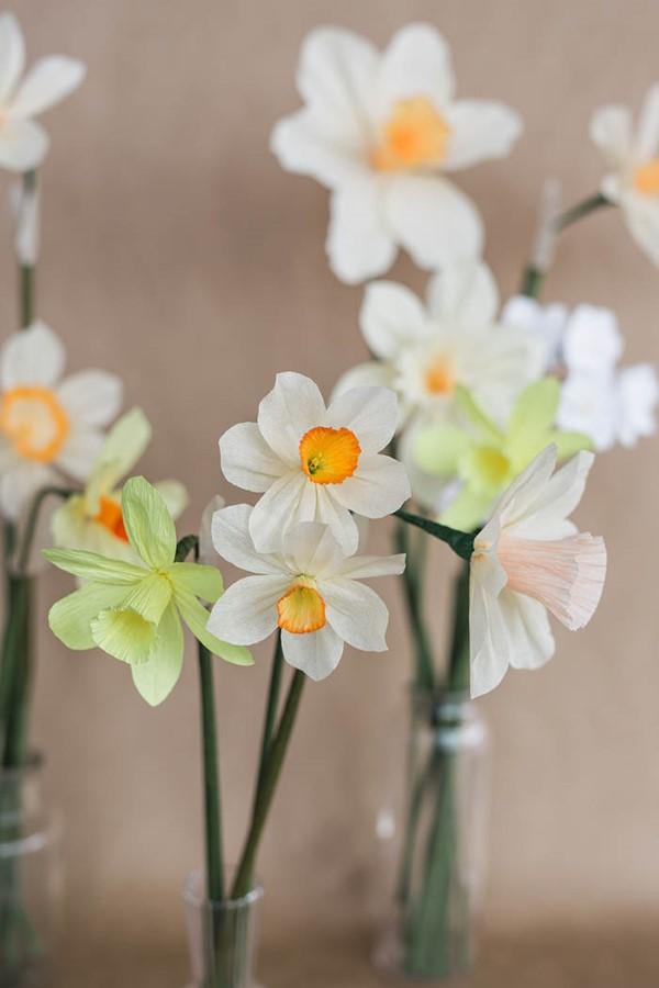 Frühlingsblumen basteln mit Kindern – Ideen und Anleitung für Anfänger und Profi-Bastler narzisse anleitung diy