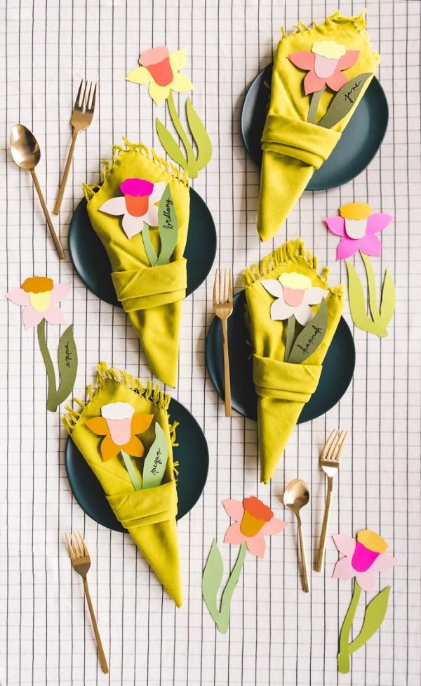 Frühlingsblumen basteln mit Kindern – Ideen und Anleitung für Anfänger und Profi-Bastler narzisse ideen nachmachen diy