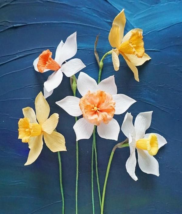Frühlingsblumen basteln mit Kindern – Ideen und Anleitung für Anfänger und Profi-Bastler narzisse ideen zum nachmachen