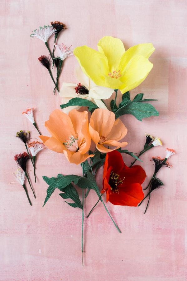 Frühlingsblumen basteln mit Kindern – Ideen und Anleitung für Anfänger und Profi-Bastler schöne einfache frühling blumen