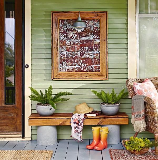 Gartenbank dekorieren – Ideen und Tipps für ein zauberhaftes Gartengefühl altes holz gartenbank ohne lehne