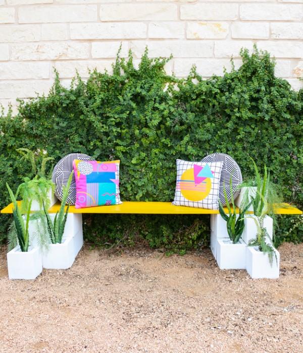 Gartenbank dekorieren – Ideen und Tipps für ein zauberhaftes Gartengefühl sommer deko bunt schön