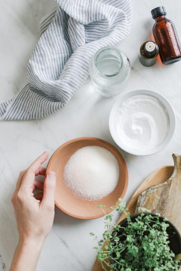 Geschirrspülmittel selber machen Pulver Zutaten zusammenmischen